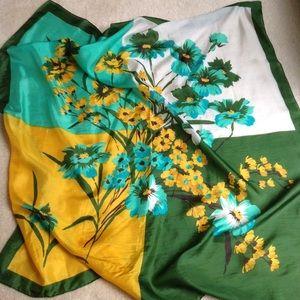 Accessories - Floral Silk Scarf